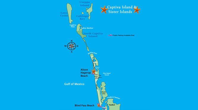 Map Of Captiva Island Beaches