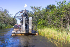 Airboat from the back